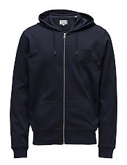 LM. FULL ZIP HOODIE - EVENING BLUE