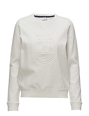 LM. LE MANS C-NECK SWEAT - WHITE