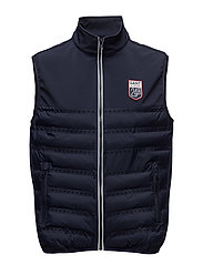 LM. PANEL QUILTED VEST - EVENING BLUE