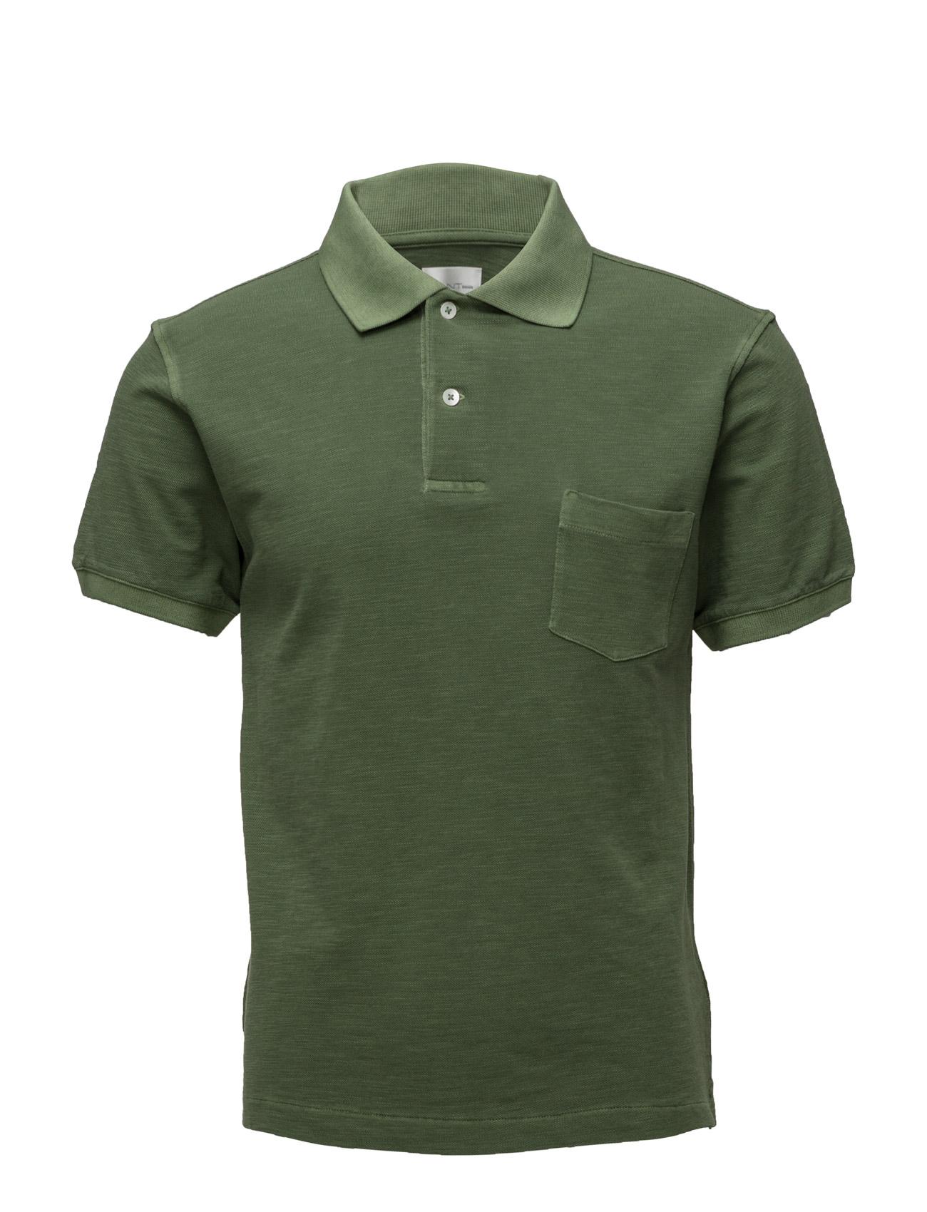 R1. Organic Pique Ss GANT Rugger Polo t-shirts til Mænd i
