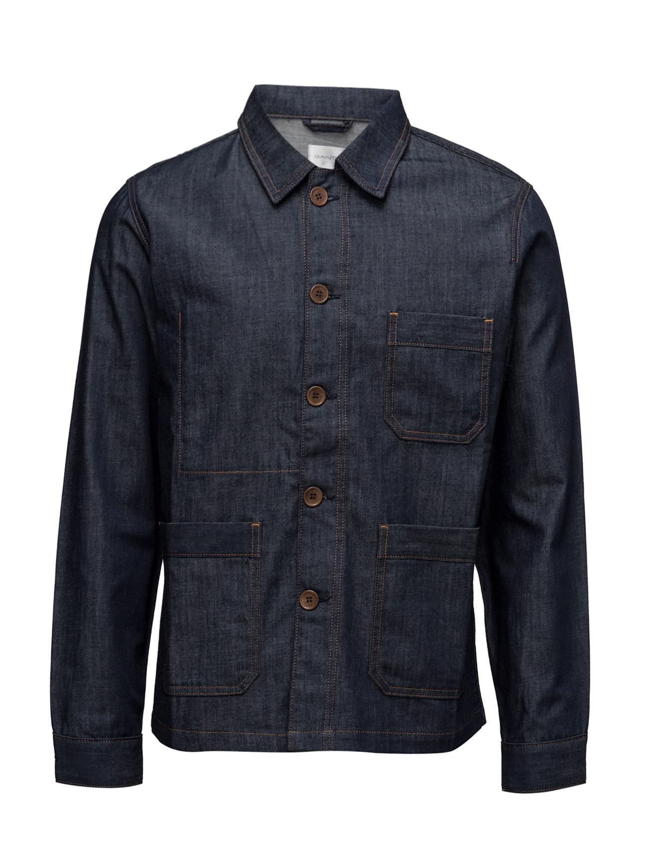 R1. Denim Shirt Jacket GANT Rugger Casual sko til Herrer i