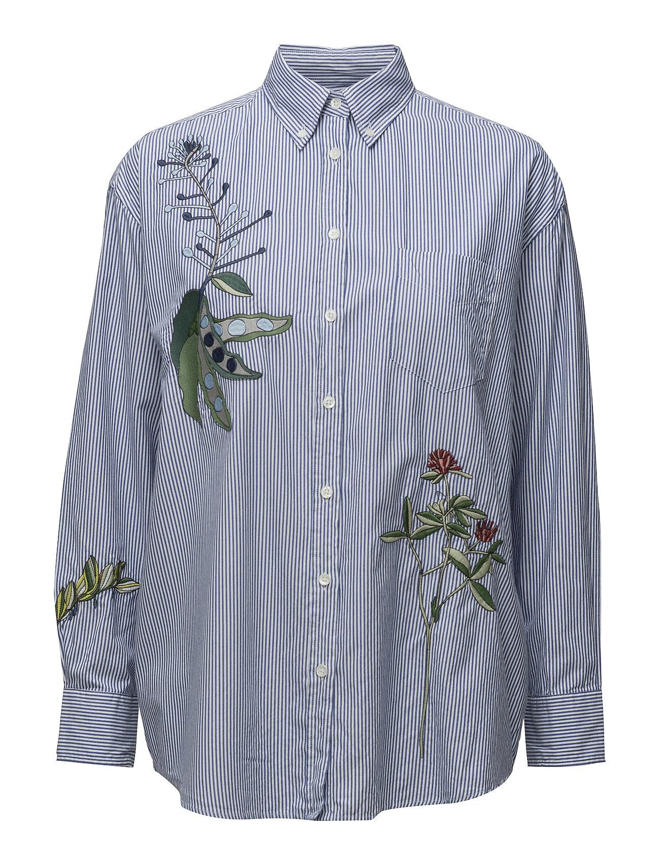 R1. Embroidered Dreamy Oxf Ebbd GANT Rugger Langærmede til Damer i