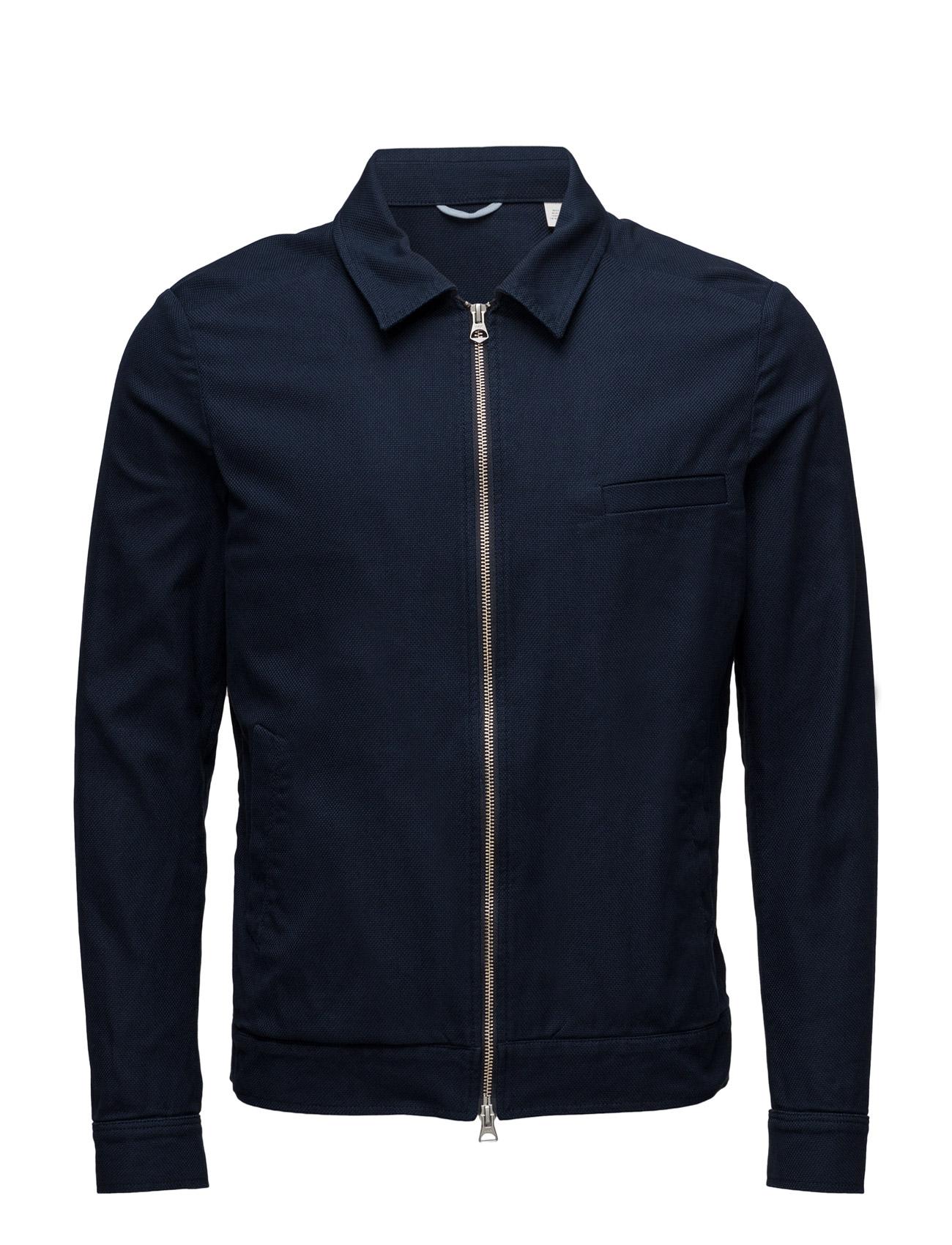 R. The Textured Shirt Jacket GANT Rugger Striktøj til Herrer i Aften Blå