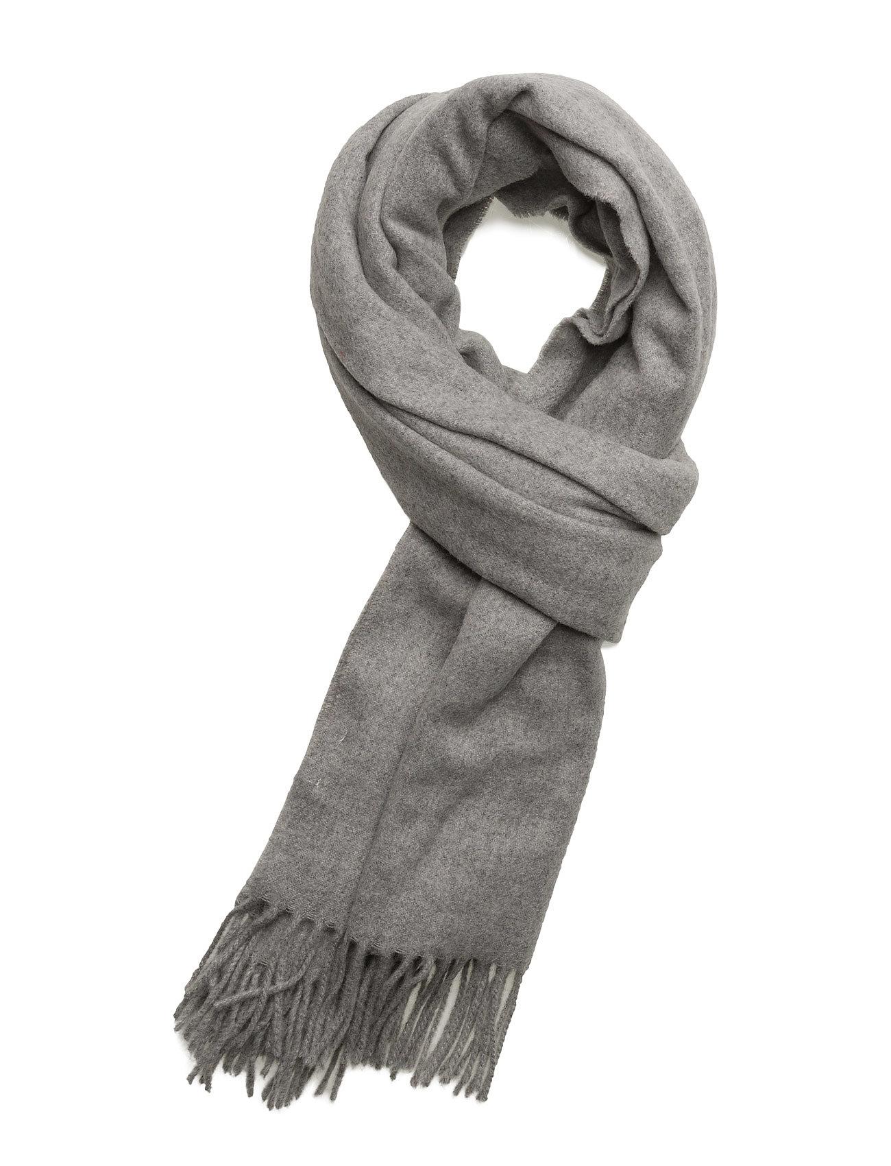 R1. Big Wool Scarf GANT Rugger Halstørklæder til Herrer i Grey Melange