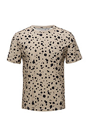 R2. THE PRINTED ORGANIC DOT TEE - DRY SAND