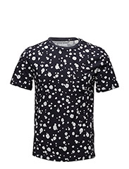 R2. THE PRINTED ORGANIC DOT TEE - EVENING BLUE