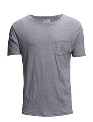 R. POCKET TEE - LIGHT GREY MELANGE