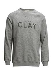R. CLAY CREW - GREY MELANGE