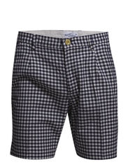 R. OXFORD GINGHAM SHORTS - STORM BLUE