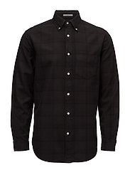 R2. OVERDYED OXFORD CHECKER LFBD - BLACK