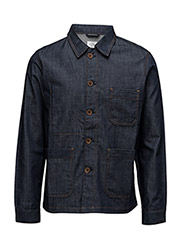 R1. DENIM SHIRT JACKET - DARK BLUE RAW