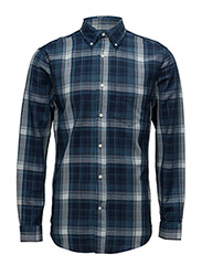 R1. INDIGO OXFORD CHECK LFBD - DARK INDIGO