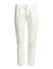 R. WHITE SLACKER JEANS - OFFWHITE