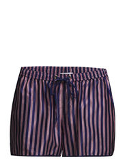R. RED STRIPE SILK SHORTS - ULTRA OCEAN
