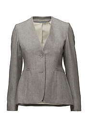 R. THE CARDY BLAZER - GREY MELANGE