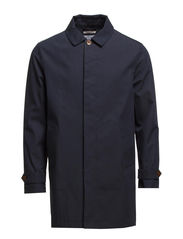 R. LAMINATED COAT - NAVY