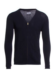 R. ZIP CARDIGAN - NAVY