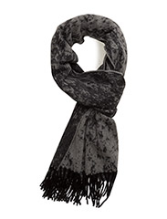 R. JAQUARD DOUBLE FACED SCARF - NAVY