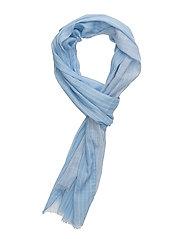 R. PINSTRIPE SCARF - SOFT BLUE