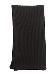 R1. RIBBED SCARF - BLACK