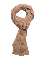 R1. RIBBED SCARF - DRY SAND