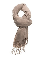 R. 2 TONE BIG WOOL SCARF - DARK SAND
