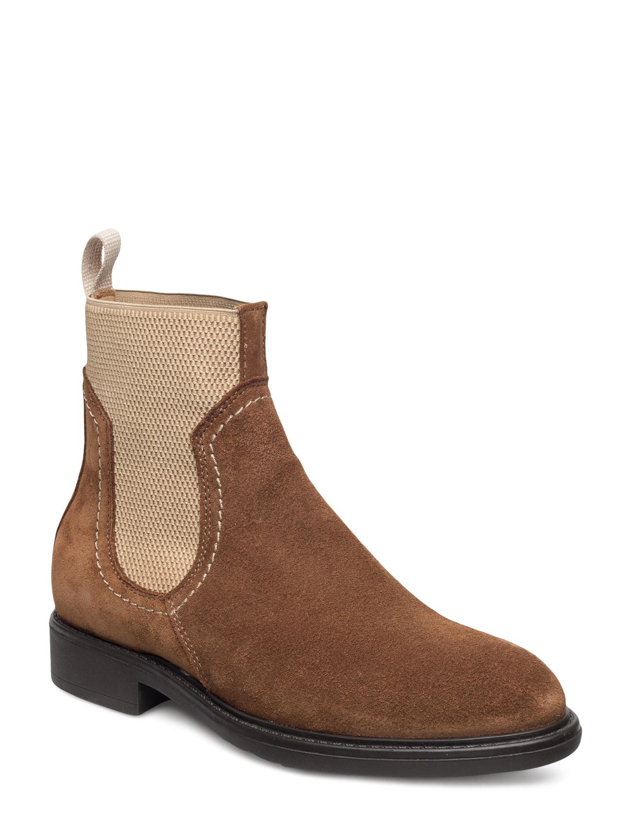 Lydia Mid Boot GANT Støvler til Damer i cognac
