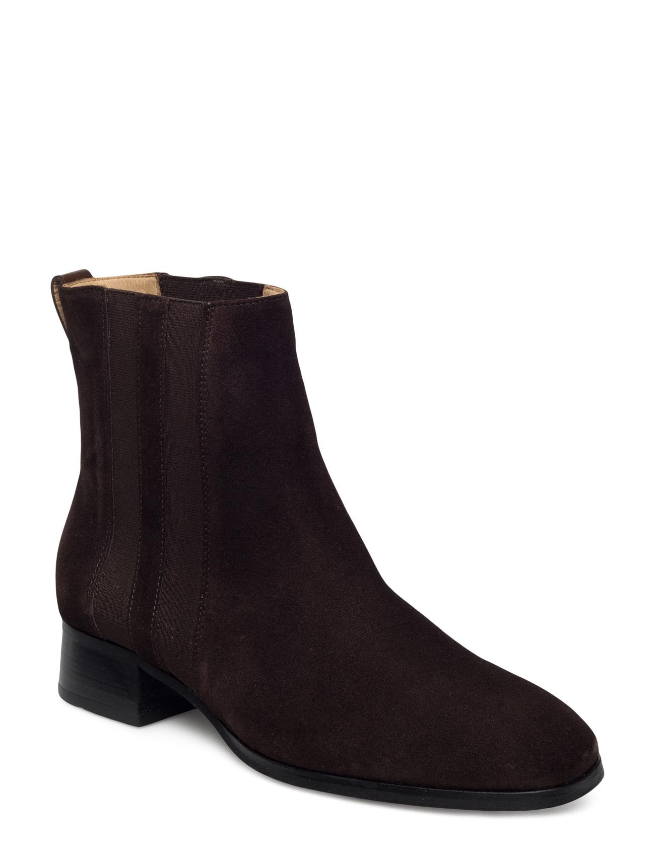 Sally Mid Boot GANT Støvler til Kvinder i Mørkebrun