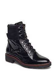 Emilia Mid lace boot - BLACK