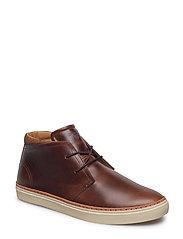 Bari Mid lace boot - COGNAC