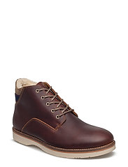 Huck Mid lace boot - COGNAC