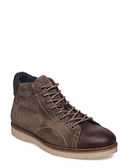 Huck Mid lace boot - DARK BROWN/GRAY
