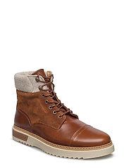 Jean Mid lace boot - COGNAC