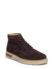 Jean Mid lace boot - DARK BROWN