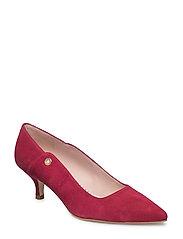 Bardot Pumps (low heel) - SYRAH RED