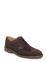 Ricardo Low lace shoes - COFFEE BROWN