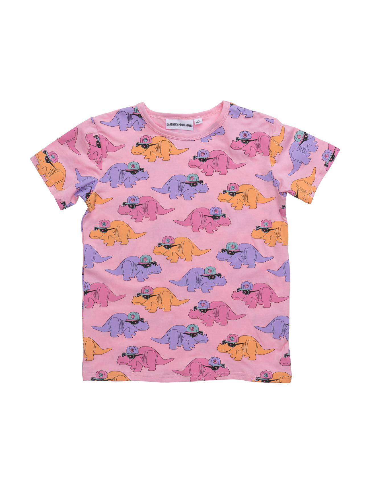 The Cool Tee Dorthy The Dino All Over Print Gardner & the Gang Kortærmede t-shirts til Børn i Lyserød
