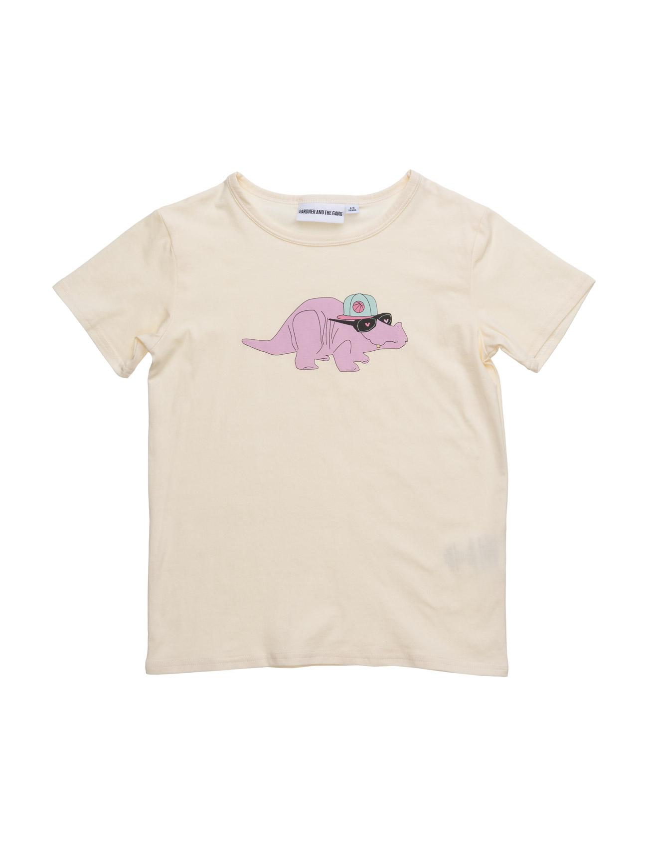 The Cool Tee Dorthy The Dino Chest Print Gardner & the Gang T-shirts til Børn i