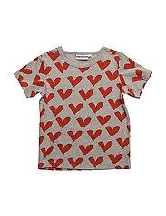 THE COOL TEE JUMBO LOVE HEART - GREY