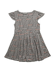 THE SWIRL DRESS NOMAD AOP - GREY
