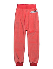 SLOUCHY PANTS VELOUR - PINKY ORANGE