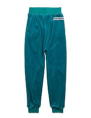 SLOUCHY PANTS VELOUR - TEAL BLUE