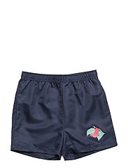 THE SURF SHORTS CAMEL - TEAL BLUE