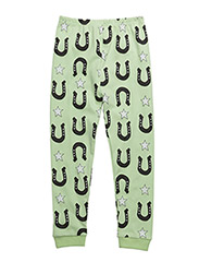 LEGGINGS STARS AND UNICORNS - FRUITY GREEN