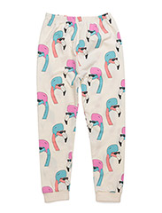 LEGGINGS HELMUT FLAMINGO ALL OVER PRINT - CREME