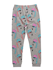LEGGINGS HELMUT FLAMINGO ALL OVER PRINT - GREY