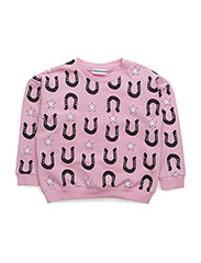 THE CLASSIC SWEATER  STARS AND UNICORNS - PINK