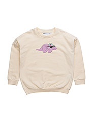 THE CLASSIC SWEATER DORTHY THE DINO CHEST PRINT - CREME