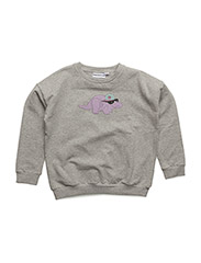 THE CLASSIC SWEATER DORTHY THE DINO CHEST PRINT - GREY