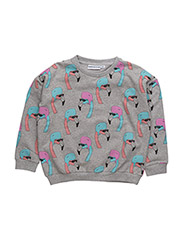 THE CLASSIC SWEATER HELMUT FLAMINGO ALL OVER PRINT - GREY